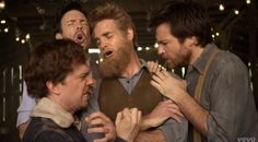 This made my day:  Ed Helms, Jason Sudeikis, Will Forte, and Jason Bateman as Mumford & Sons for Hopeless Wanderer