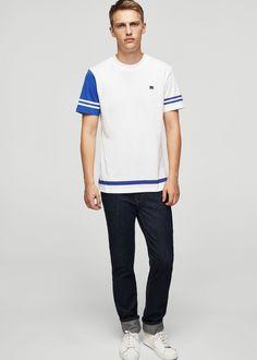 Trendy t-shirt men united kingdom Mango Fashion, Blackpink Fashion, Fashion Online, Christian Clothing, Christian Shirts, Shirt Refashion, Man United, Shirts For Girls, American Apparel