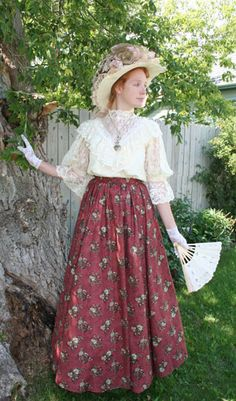 Recollections: Avonlea - another lovely ensemble with an Edwardian-inspired blouse and calico skirt. $199.90