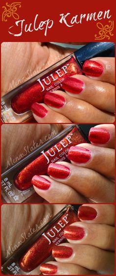 Julep Nail Polish swatch – Karmen | direct sunlight; indirect sunlight; inside no flash