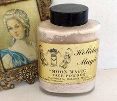 Vintage Face Powder Moon Magic Holiday Magic by CrowsCottage