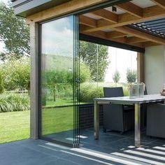 Pergola Attached To House Plans Key: 8375732408 Outdoor Spaces, Outdoor Living, California Room, Arched Windows, Pergola Designs, Patio Doors, Sliding Glass Door, Backyard Patio, Home Deco