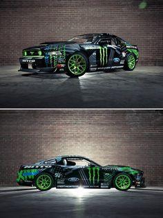 ♥Gittin's new 2014 Mustang #FormulaDrift #VaughnGittinJr #monster