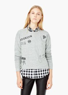 Sweat-shirt imprimé - Cardigans et pull-overs pour Femme | MANGO