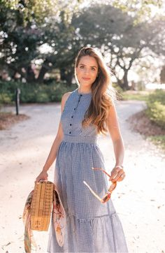 0ede55e8f4a Gal Meets Glam Collection Ardith Gingham Fit   Flare Midi Dress