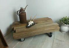 Treibholz Eiche Couchtisch coffee table old oak