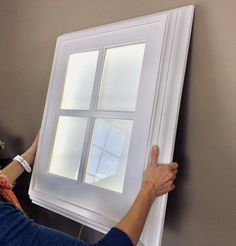 The Original Faux LED Window Light - Basement Bedrooms Basement Windows, Basement Bedrooms, Basement House, Basement Plans, Basement Ideas, Drop Ceiling Basement, Basement Apartment Decor, Basement Decorating, Fake Window Light