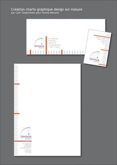 création design et sur mesure de charte graphique : papier à en-tête - carton correspondance - carte de visite...