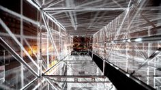 3D Bridge / Report #2 by 1024. An architectural installation in Paris / FR / 2010.