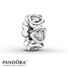 Pandora Charm Clear CZ Sterling Silver ** I so want 2 of these**