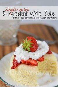 5 Ingredient White Cake (THM:S, Low carb, Sugar free, Gluten and Nut free)