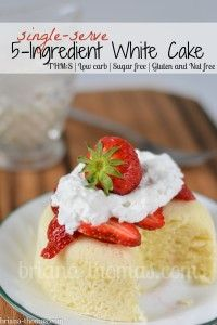 5 Ingredient White Cake (THM:S, Low carb, Sugar free, Gluten and Nut free)