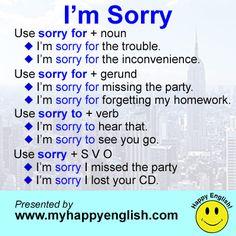 "Saying ""I'M SORRY"""
