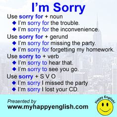 "Saying ""I'M SORRY"""