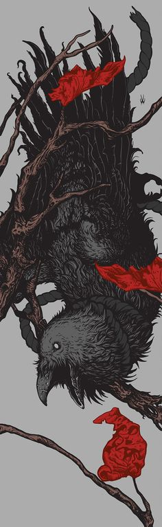 Rotten Crow by Willenmann Art #illustration #crow