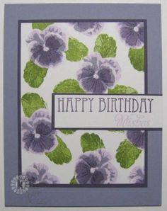 Birthday Pansies by allee's - Cards and Paper Crafts at Splitcoaststampers