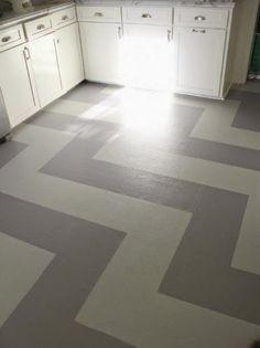 DIY Floors: Vinyl to Tile for Only $50
