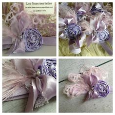 Lavender Rosette Headband on Sale by CozetteCouture on Etsy, $18.99