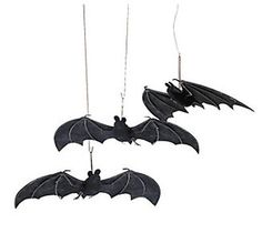 Set of 3 Fabric Hanging Bats Halloween Party Decorations #Home #Garden #Holiday #Seasonal #Décor #25/3333