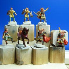 Projet 6 figurines évolutives, guerrier 2, Table dwarven forge, rpg terrain, diorama 28mm, figurines, miniatures