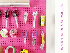 How to install a Pegboard in a craft room DIY project via now at home mom