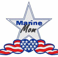 Marine Mom Embroidery Software, Free Machine Embroidery Designs, Marine Mom, Marine Corps, Marine Life, Army Mom, Military Love, Usmc, Painted Rocks