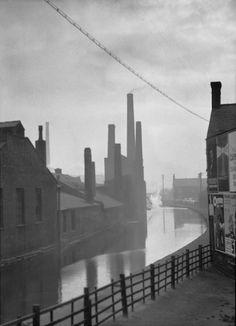 Canal, Manchester, England, United Kingdom, 1925-36, photograph by E.O. Hoppé.