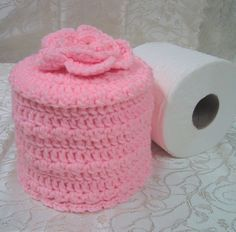 Cover Your Spare Toilet Paper Cover w Flower by WeekendEveryday