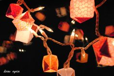 valentine origami box lighted garland 4.