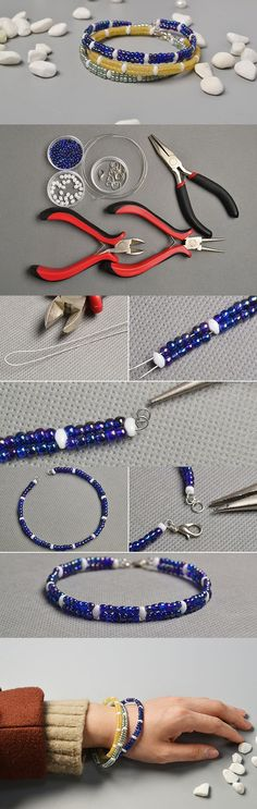 http://beadingdesigncrafts.tumblr.com/post/155831257674/diy-simple-2-strand-seed-beads-bracelets