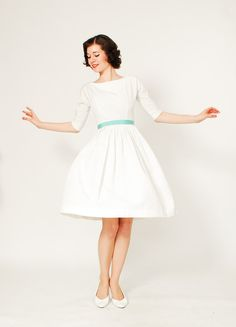 1950s Wedding Dress - 50s Dress - The Perfect Courthouse Wedding Dress