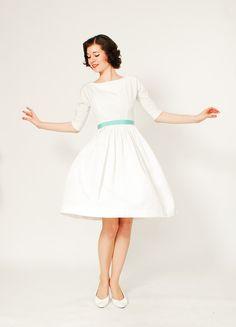 1950s Wedding Dress - 50s Dress - The Perfect Courthouse Wedding Dress on Etsy, $178.00