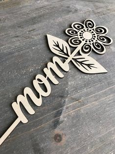 Made from laser-cut MDF, each word stem measures about 9 in length. Use in a flower pot, in a vase with an arrangement of flowers, or as a sweet addition to a wreath. Laser Cut Mdf, Laser Art, Laser Cut Files, 3d Laser, Laser Cutting, Laser Cutter Ideas, Laser Cutter Projects, Gravure Laser, Laser Cut Jewelry