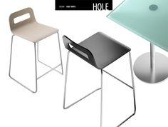 Taburete Hole de Lapalma.  Diseño: Enzo Berti.  Muebles de diseño.
