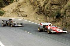 1972 Clermont-Ferrand Jacky Icks (Ferrari 312B2) Emerson Fittipaldi (Lotus 72D)