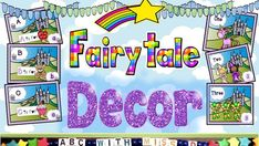 Math and Phonics Fairytale Decor Bundle! Count to 10 and Learn the ABCs instant learning printable-unicorns, princess, castle theme Preschool Director, Fairy Tales For Kids, Unicorn Printables, Word Board, Halloween Math, Math Activities, Math Resources, Word Families, Learn To Read
