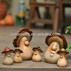 ceramic mushroom for yard decoration