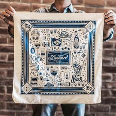 Another quality water based bandana print. Design by @zacharykiernan Photo by @gabriel_molton #handcrafted #workwithyourhands #printmaking #craft #tradition #senecapress #screenprinting #madeinusa #bandana #waterbased