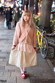Layered Look w/ Pretty Colors, #Cardigan & Red #Bow Shoes in #Harajuku. #tokyofashion is love!! <3