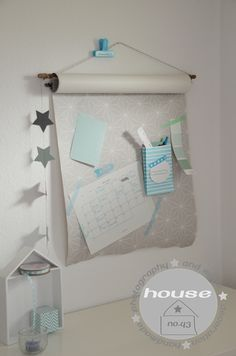House No. 43: Wanddekoration Kalender Organizer decoration calendar DIY
