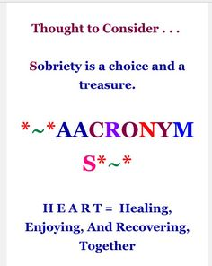 9-19-16 thought to consider & aacronyms