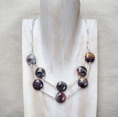Botswana Agate  and Sterling silver necklace £119.00