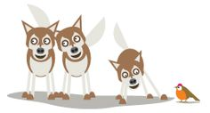 Those lovely Huskys - great illustration
