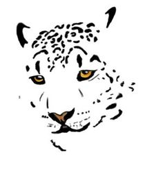 Image result for snow leopard tattoo with flowers