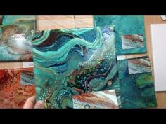 Fluid Acrylic Pouring - Swipe and Spin Technique Test 1 - Big Cells, No Silicon - YouTube