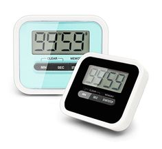 Kids' Room Clocks - EMDMAK Kitchen Timer Digital Cooking Timer Clock with Large LCD Display Loud Alarm Back Magnetic Retractable Stand Countdown Timer 2 Pieces *** Click image to review more details.
