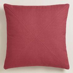 One of my favorite discoveries at WorldMarket.com: Garnet Red Herringbone Cotton Throw Pillow