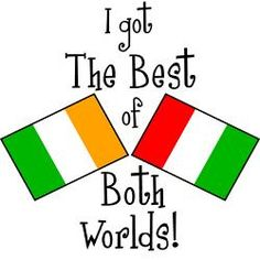 """""""Potatoes and pasta; Irish and Italian"""" <3 and let's not forget the English and French :P"""