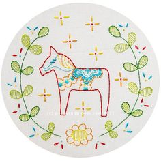 Swedish horse pattern - Dala Häst