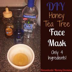 DIY Honey Tea Tree Face Mask Recipe | Homeschoolin' Mommy Chronicles